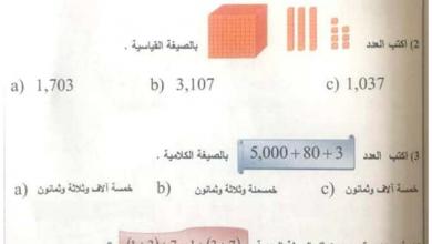 Photo of امتحان نهاية الفصل الأول 2017 رياضيات صف ثالث