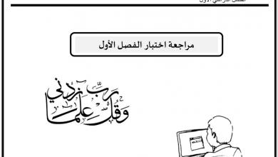 Photo of مراجعة لاختبار الفصل الاول تربية إسلامية صف سادس
