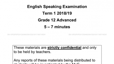 Photo of امتحان التحدث لغة إنجليزية صف ثاني عشر فصل أول 2018