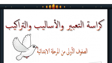 Photo of كراسة هامة لشرح الأساليب لغة عربية للصفوف الأولى