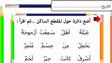 Photo of أوراق عمل السكون لغة عربية صف أول فصل أول