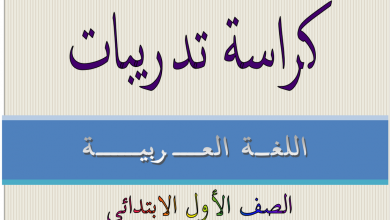 Photo of أول لغة عربية كراسة هامة
