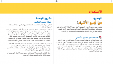 Photo of ثالث دليل المعلم رياضيات الوحدة السادسة