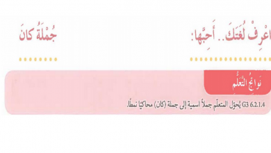 Photo of ثالث لغة عربية جملة كان