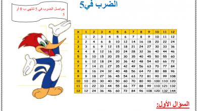 Photo of ورق عمل الضرب والقسمة في 5 رياضيات صف ثالث فصل أول