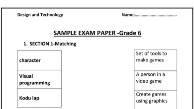 Photo of نموذج امتحان تصميم صف سادس فصل أول