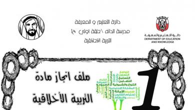 Photo of ملف انجاز لمادة التربية الاخلاقية الصف الاول