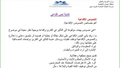 Photo of كتابة نص اقناعي لغة عربية صف حادي عشر فصل أول