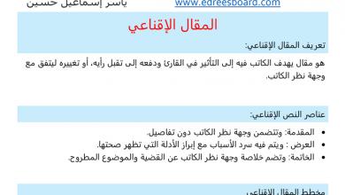 Photo of طريقة كتابة نص أو مقال إقناعي لغة عربية صف سادس