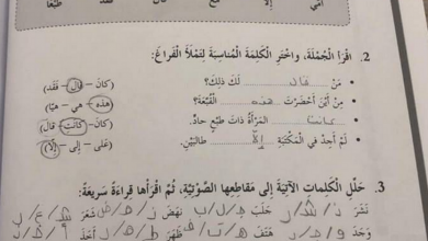 Photo of حلول الوحدة الأولى كتاب النشاط لغة عربية صف سادس فصل أول
