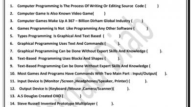 Photo of اسئلة شاملة الوحدات 1-2-3 تصميم وتكنولوجيا صف سادس فصل أول