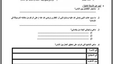 Photo of ورقة عمل الإحسان إلى الناس تربية إسلامية صف خامس فصل أول