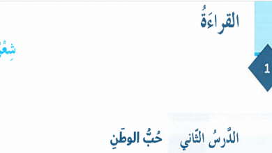Photo of حل درس حب الوطن لغة عربية صف سادس فصل أول