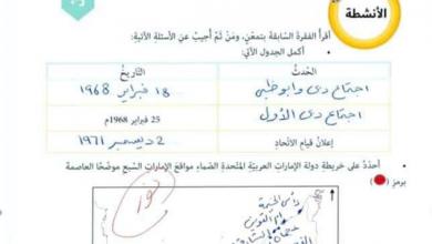Photo of حل الدرس الأول والثاني الوحدة الثانية دراسات اجتماعية صف خامس فصل أول