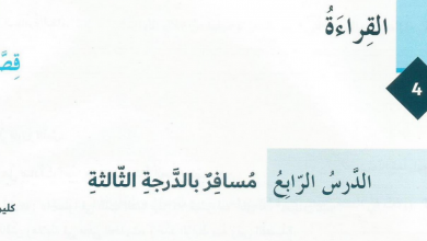 Photo of مسافر بالدرجة الثالثة لغة عربية صف ثامن فصل أول
