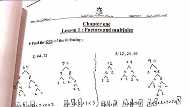 Photo of أوراق عمل الوحدة الأولى رياضيات منهج إنكليزي صف سادس فصل أول
