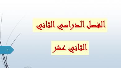 Photo of حلول كامل الدروس لغة عربية صف ثاني عشر فصل ثاني