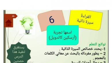 Photo of حل درس اسمها تجربة لغة عربية صف عاشر فصل أول