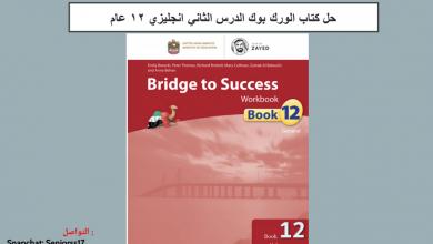 Photo of حل الدرس الثاني الوحده الاولى ورك بوك لغة إنجليزية صف ثاني عشر فصل أول