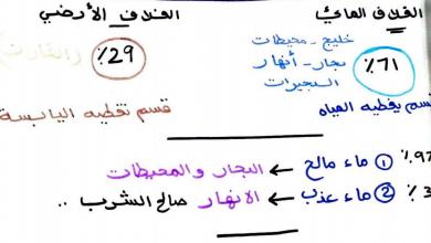 Photo of تلخيص (الغلاف المائي والغلاف الجوي) دراسات اجتماعية صف ثاني فصل أول
