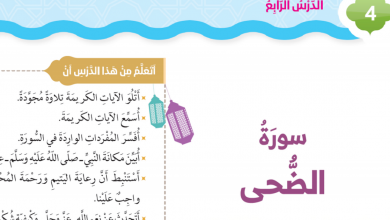 Photo of سورة الضحى تربية إسلامية صف ثاني فصل ثاني