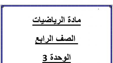 Photo of الوحدة الثالثة فهم الضرب والقسمة رياضيات صف رابع فصل أول