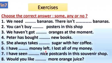 Photo of ورق عمل حول some. any. لغة إنجليزية صف خامس فصل أول
