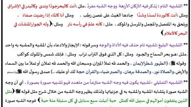 Photo of البلاغة (التشبيه والاستعارة) لغة عربية صف ثاني عشر فصل ثاني