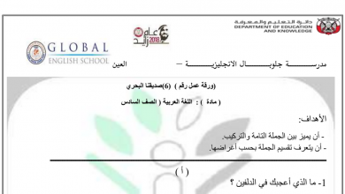 Photo of ورقة عمل درس صديقنا البحري لغة عربية صف سادس فصل أول