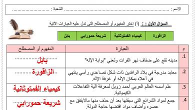Photo of ورقة تقييم درس شخصيات حضارية الوحدة الأولى دراسات اجتماعية الصف السادس فصل أول
