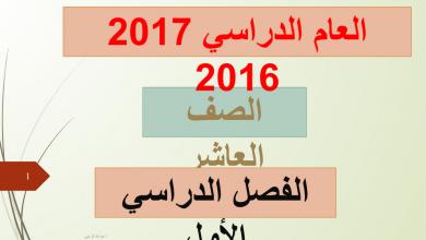 Photo of حل كل الدروس لغة عربية صف عاشر فصل أول