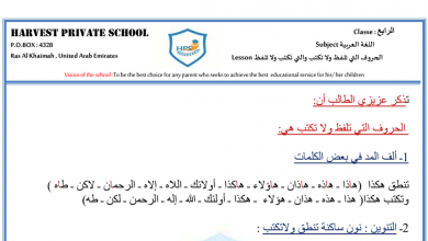 Photo of ورقة عمل (الحروف التي تلفظ ولا تكتب والتي تكتب ولا تلفظ) لغة عربية للصف الرابع الفصل الأول