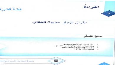 Photo of حل درس حسون الحواي لغة عربية صف سابع فصل أول