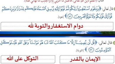 Photo of حل أسئلة الدرس الرابع المؤمن القوي تربية إسلامية صف رابع فصل أول