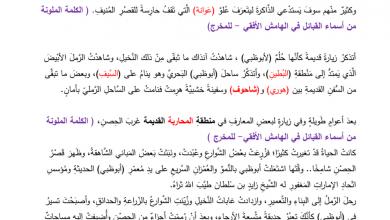 Photo of نصوص الاستماع لغة عربية للصف السابع الفصل الأول