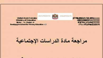 Photo of مراجعة وأوراق عمل لغة عربية صف سابع فصل أول