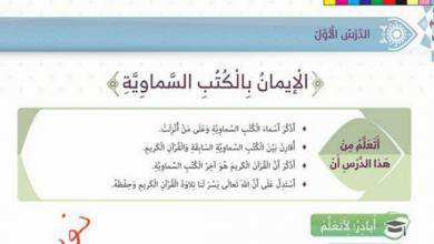 Photo of حل درس الإيمان بالكتب السماوية تربية إسلامية صف رابع فصل أول