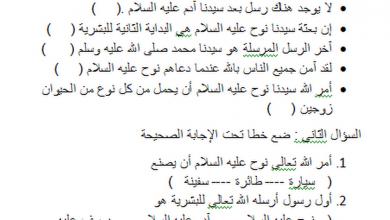 Photo of ورقة عمل درس قصة نوح عليه السلام تربية إسلامية للصف الثاني فصل أول