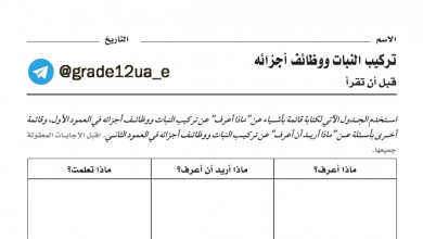 Photo of دليل الانشطة احياء صف ثاني عشر عام فصل أول