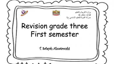 Photo of أوراق عمل (مراجعة الوحدة 1 – 2 – 3) لغة إنجليزية للصف الثالث الفصل الأول