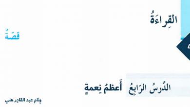 Photo of حل درس أعظم نعمة لغة عربية فصل أول صف ثامن