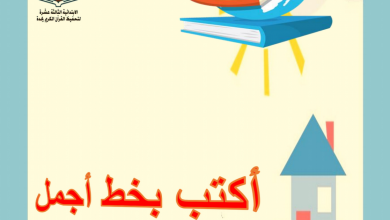 Photo of أوراق عمل (أكتب بخط أجمل) لغة عربية للصف الأول