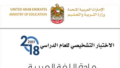 Photo of الاختبار التشخيصى لغة عربية صف ثالث نموذج أول