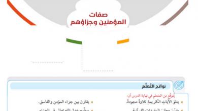 Photo of حل درس صفات المؤمنين وجزاؤهم تربية اسلامية صف سادس فصل أول