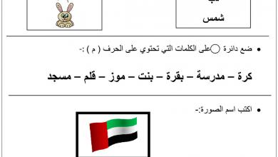 Photo of اختبار تشخيصي لمادة اللغة العربية الصف الاول الفصل الاول