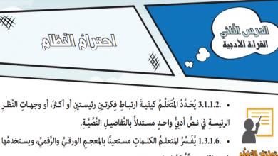 Photo of حل درس احترام القانون لغة عربية صف ثامن فصل أول