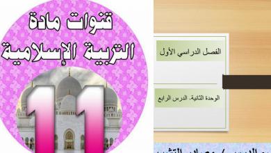 Photo of مصادر التشريع تربية اسلامية صف حادي عشر متقدم فصل أول