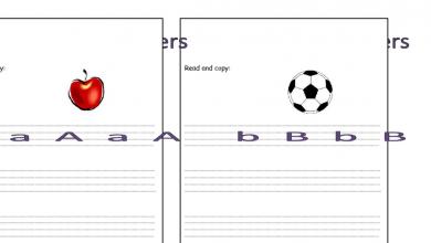 Photo of ملف تعليم كتابة الأحرف لغة إنجليزية للصف الأول