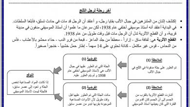 Photo of تلخيص الدرس الأول  الحالة علوم صف سادس فصل أول
