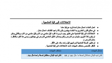 Photo of ملزمة أحياء الوحدة الثانية فصل أول صف ثاني عشر متقدم
